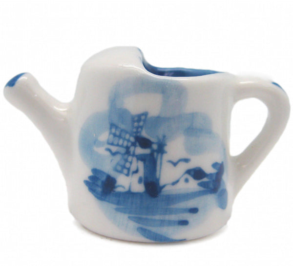 Miniature Ceramic Delft Blue Water Can - OktoberfestHaus.com  - 1