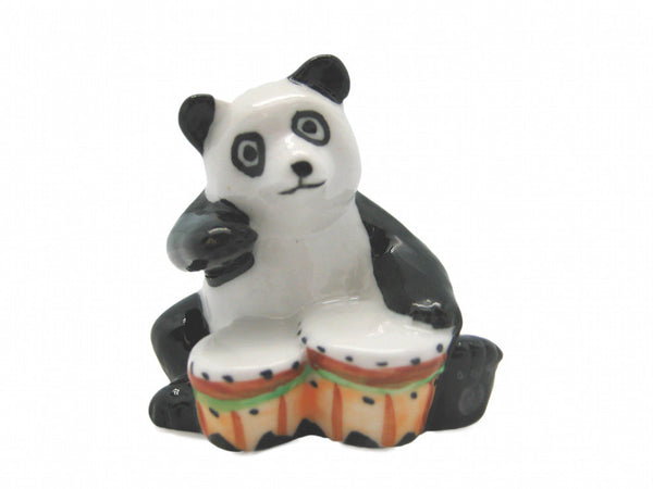 Miniature Musical Instrument Panda With Drum - OktoberfestHaus.com  - 1