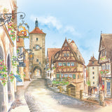 German Souvenir Rothenberg Fridge Color Tile Magnet - OktoberfestHaus.com  - 1