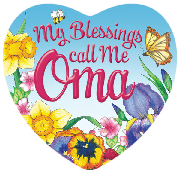 "Gift for Oma Heart Magnetic ""My Blessings Call me Oma"" - 1 - OktoberfestHaus.com"