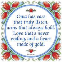 German Gift for Oma Saying Tile Magnet - OktoberfestHaus.com  - 1