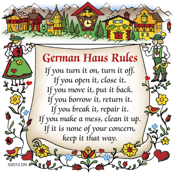 German Gift Idea Magnet (German Haus Rules) - OktoberfestHaus.com
