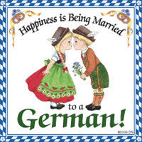 German Gift Idea Magnet (Happiness Married To German) - OktoberfestHaus.com  - 1