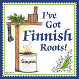Finnish Souvenirs Magnetic Tile: (Finnish Roots) - OktoberfestHaus.com  - 1