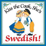 Swedish Souvenirs Magnet Tile: Kiss Swedish Cook - Oktoberfesthaus.com 1