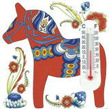 Thermometer Tile Magnet: Red Dala Horse - OktoberfestHaus.com  - 1