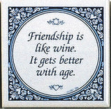 Magnetic Tiles Sayings: Friendship Like Wine - OktoberfestHaus.com  - 1