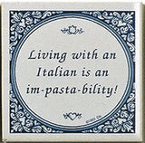 Italian Culture Magnet Tile (Living With Italian) - OktoberfestHaus.com  - 1