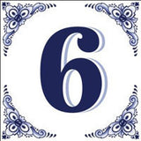 House Numbers Tile Blue and White - OktoberfestHaus.com  - 6