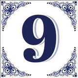 House Numbers Tile Blue and White - OktoberfestHaus.com  - 9