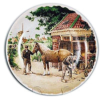 Collectible Plate Blacksmith Color