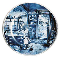 Collectible Plate Cheesemaker Blue