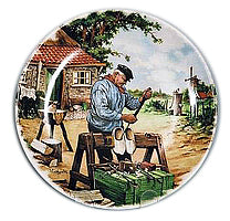 Collectible Plate Clogmaker Color