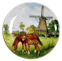 Collectible Plate Horse and Colt Color