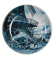 Collectible Plate Miller Blue