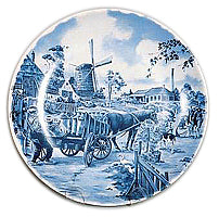 Collectible Plate Milkman Blue