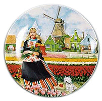 Collectible Plate Tulip Girl Color