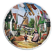 Collectible Plate Windmill Street Color