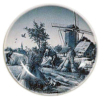 Collectible Plate Summer Scene Blue