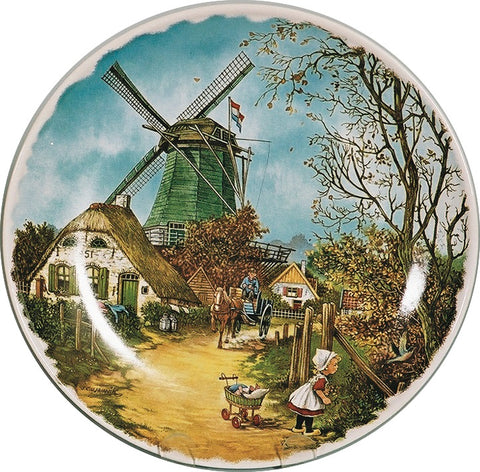 Collectible Plate Fall Scene Color - DutchGiftOutlet.com