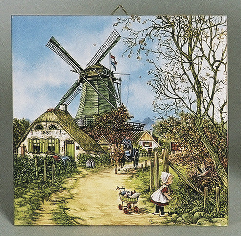 Collectible Dutch Tile Four Seasons Fall Color - OktoberfestHaus.com