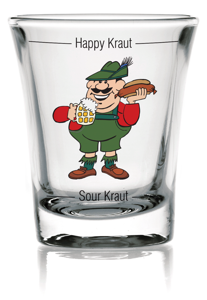 German Party Favor Shot Glass: Grouchy German Clear - OktoberfestHaus.com  - 4