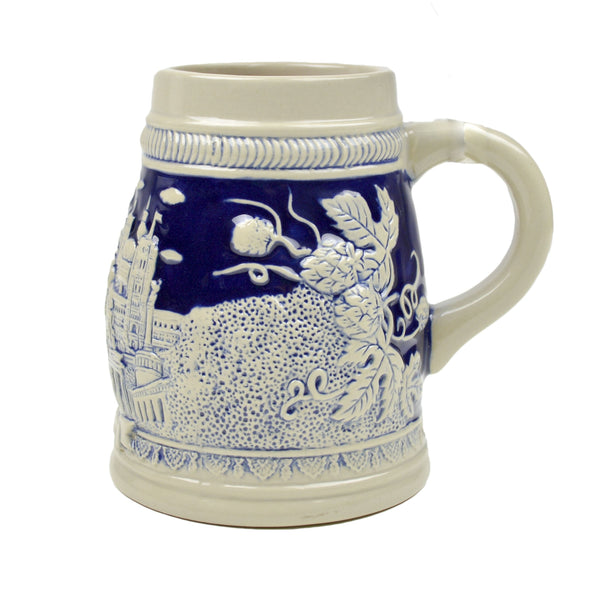 Cobalt Blue Landmarks of Berlin .75L Beer Stein -1