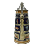 German Schnitzelbank Song .9L Lidded Beer Stein -3