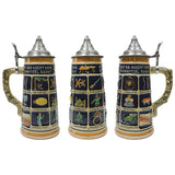 German Schnitzelbank Song .9L Lidded Beer Stein -5
