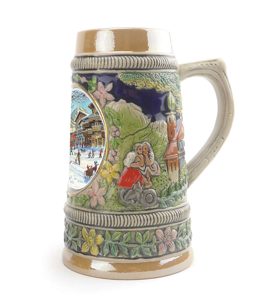 Germanic Winter Ceramic Shot Beer Stein Collectible