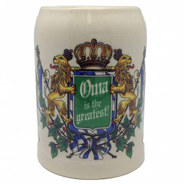Ceramic Beer Stein German Gift For Oma - OktoberfestHaus.com  - 1