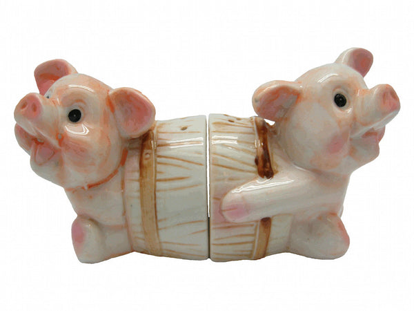 Collectible Salt and Pepper Pigs In Barrel - DutchGiftOutlet  - 2