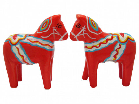 Swedish Dala Horse Red Salt and Pepper Shakers - DutchGiftOutlet  - 1
