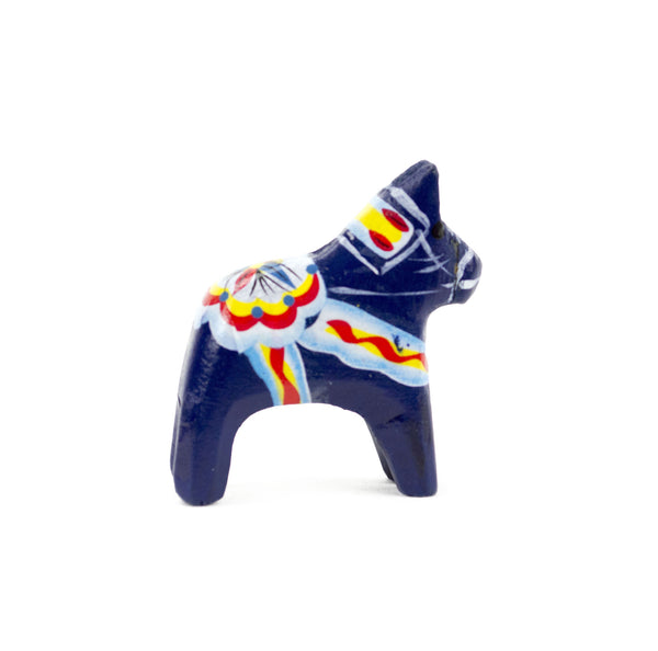 Swedish Wood Dala Horse: Blue - OktoberfestHaus.com