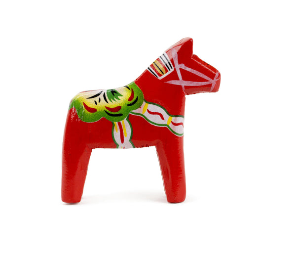Swedish Wood Dala Horse: Red - OktoberfestHaus.com