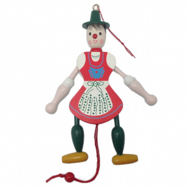 German Gift Girl Jumping Jack Toy - OktoberfestHaus.com  - 1