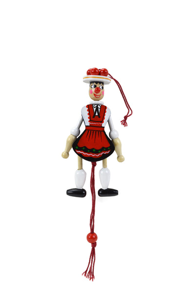 Bavarian Girl Wood Jumping Jack Toy - 1 - OktoberfestHaus.com