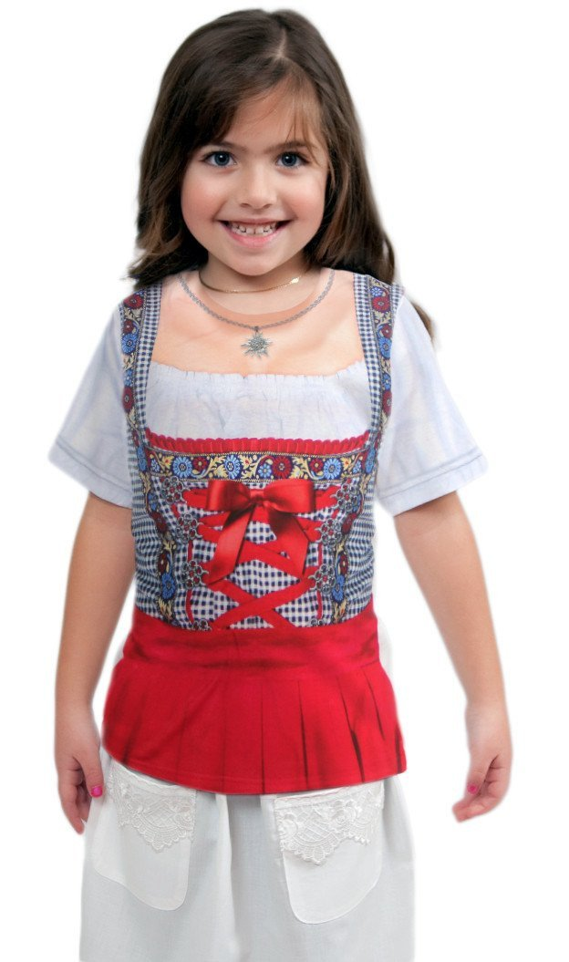 German Costume Youth Dirndl Realistic Faux Shirt - GermanGiftOutlet.com