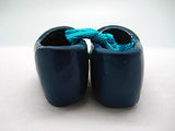 Wooden Shoe Party Favor Blue Clogs w/ Flower Design - OktoberfestHaus.com  - 3