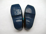 Wooden Shoe Party Favor Blue Clogs w/ Flower Design - OktoberfestHaus.com  - 4