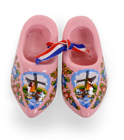 Pink Windmill Wooden Shoes - OktoberfestHaus.com