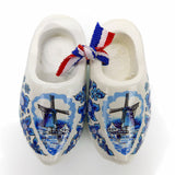 Holland Wooden Shoes Deluxe Blue White - OktoberfestHaus.com  - 1