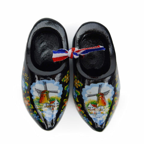 Holland Wooden Shoes Deluxe Black - OktoberfestHaus.com  - 1