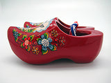 Decorative Wooden Shoe Clogs Landscape Design Red 3.25""