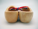 Decorative Wooden Shoe Clogs Landscape Design Natural Tulips 3.25""