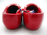 Decorative Wooden Shoe Clogs Landscape Design Red 4""