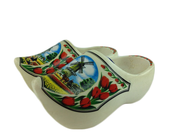 "Wooden Shoe Clogs Dutch Windmill and Tulips Design-7"" - OktoberfestHaus.com  - 1"