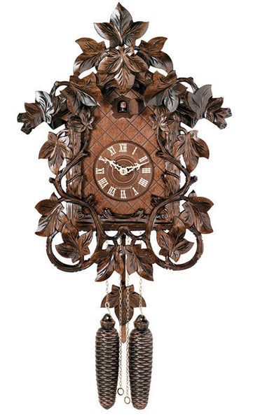 "Eight Day 18"" House Vines Leaves German Cuckoo Clock From River City Clocks - OktoberfestHaus.com"