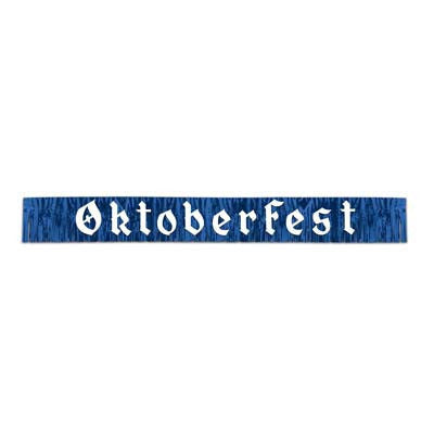 7.5 Foot Oktoberfest Fringed Metalic Banner Party Decorations - DutchGiftOutlet  - 1