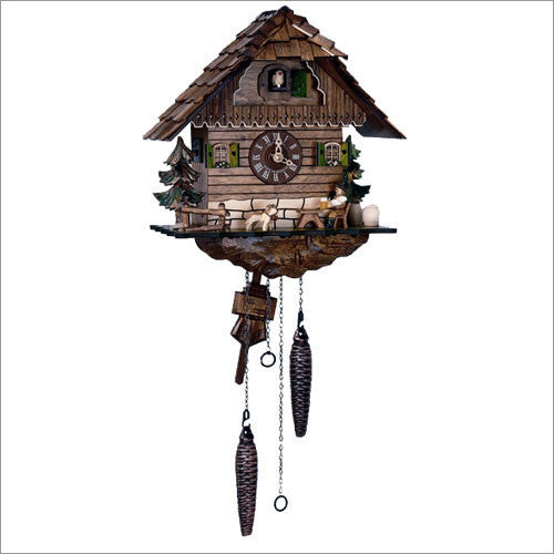 "Schneider 10"" Black Forest Beer Drinker German Cuckoo Clock - OktoberfestHaus.com  - 1"